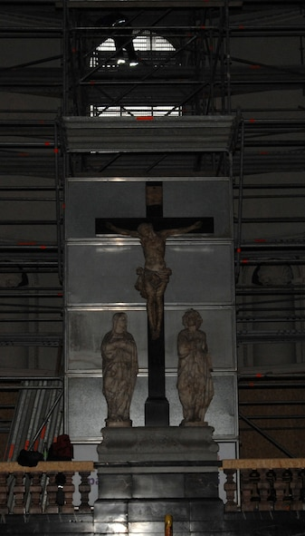 SPANGDAHLEM AIR BASE, Germany -- A depiction of the crucification is displayed at the Trier Cathedral. The cathedral is currently under construction. (U.S Air Force photo/Airman 1st Class Jenifer Calhoun)