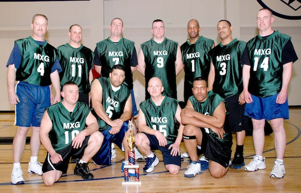 This year's over-30 championship basketball team, the 90th Maintenance Group (U.S. Air Force photo/Airman 1st Class Daryl Knee).