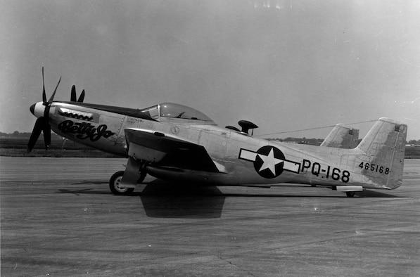"North American F-82B ""Betty Jo"" (S/N 44-65168). (U.S. Air Force photo)"