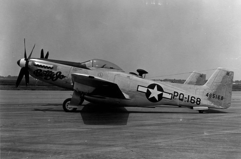 "North American F-82B ""Betty Jo"" (S/N 44-65168). (U.S. Air Force photo)"
