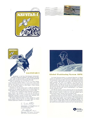 "Rockwell International issued a ""first day of issue"" card for each Block I GPS launch and arranged with the Vandenberg Air Force Base, Calif., post office to postmark the cards. NAVSTAR-1, the first Block I GPS satellite, launched from Vandenberg AFB Feb. 22, 1978. (courtesy image)"