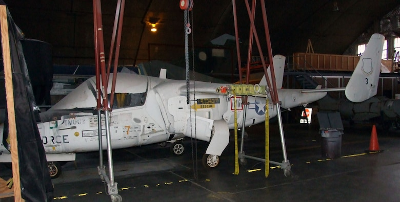 DAYTON, Ohio -- Fairchild Republic T-46A is currently in storage at the National Museum of the United States Air Force. (U.S. Air Force photo)