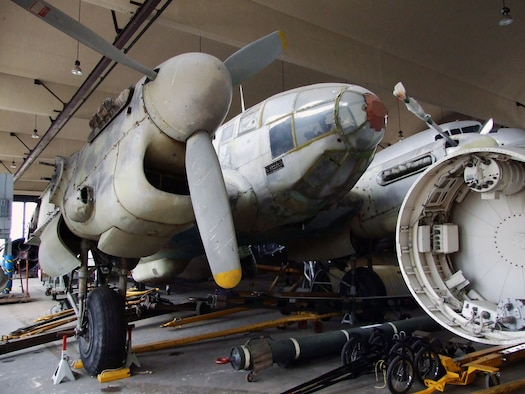 DAYTON, Ohio -- CASA 2.111H (Spanish HE-111H) is currently in storage at the National Museum of the United States Air Force. (U.S. Air Force photo)