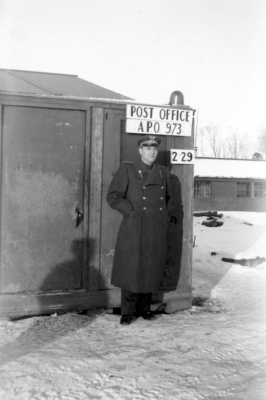 A Soviet officer stands at the post tent at Galena Air Station, Alaska. (U.S. Air Force photo)
