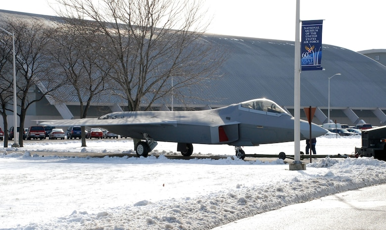 DAYTON, Ohio - The F-22 Raptor as it is moved from the restoration hangar to the National Museum of the U.S. Air Force. (U.S. Air Force photo)