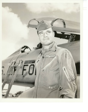 1st Lt. Jerome Klingaman as an F-100 Super Sabre pilot at England Air Force Base, La., in the late 1950s. (Courtesy photo)
