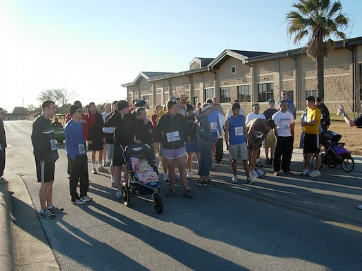 LAUGHLIN AIR FORCE BASE, Texas- More than 50 people showed up to participate in Laughlin's annual 5K fun run/race.  The event is one of the many ways the Lasano Fitness Center keeps Laughlin members fit to fight.  (U.S. Air Force photo by Lauren Koether)