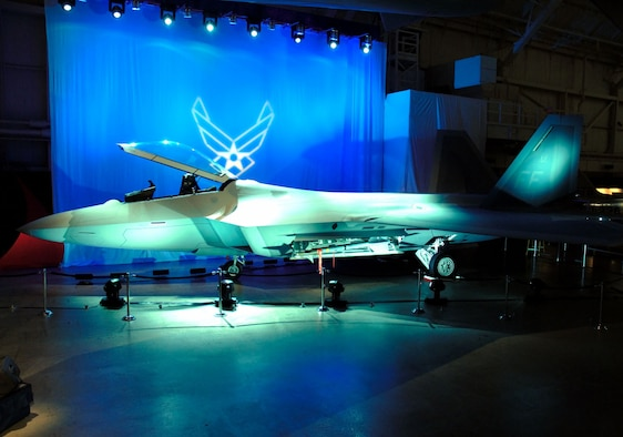 DAYTON, Ohio (1/17/08) - The F-22A Raptor on display during the opening ceremony of the new exhibit at the National Museum of the U.S. Air Force.  (U.S. Air Force photo)