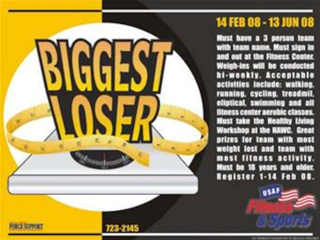 MINOT AIR FORCE BASE, N.D. -- Biggest Loser Contest.