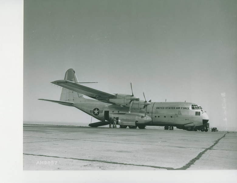 The YC-130, prototype for the classic transport aircraft, completed its first flight Aug. 23, 1954. (Courtesy photo)