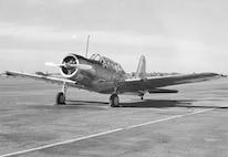 Vultee BT-13 on runway at Minter Field, Calif. 1 March 1943. (41047 A.C.)