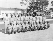 Keesler Field's first class of Negro airplane mechanics graduated August 1944. Physical fitness and markmanship were stressed at the Basic Training Center during the last six months of 1944. Class 68 of Section U established a physical fitness record during the late summer of 1944 when it attained an average physical fitness score of 71.5%. All the members of this pre-aviation cadet class qualified with the carbine and the average score of the class in pistol marksmanship was 67.