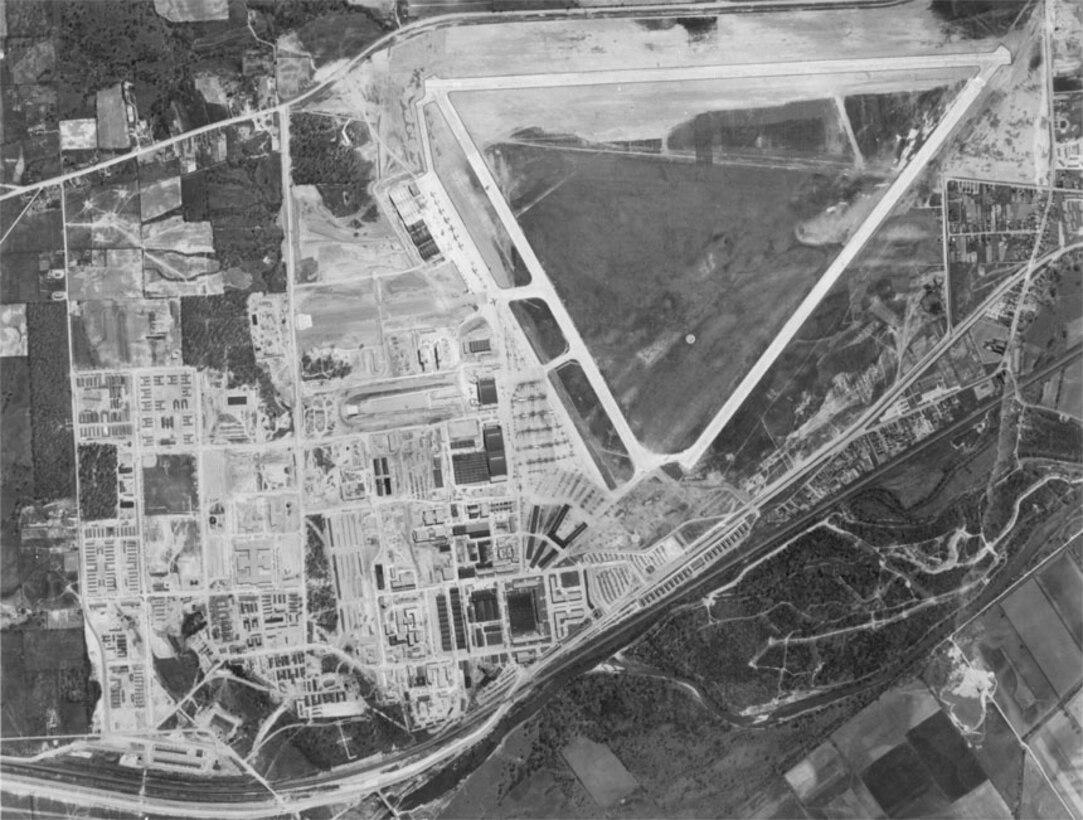 Wright Field construction progress, May 1, 1944.