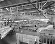 Douglas Aircraft Co., Inc., Santa Monica, CA. Douglas B-18 aircraft being constructed.