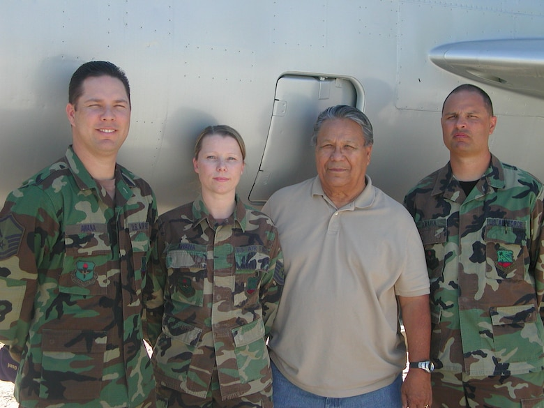 Master Sgt. Clinton Awana, Tech Sgt. Leora Awana, Mitchell Awana and Tech. Sgt. Mitchell Awana, Jr. Mitchell Sr. served in the 162nd for one enlistment.