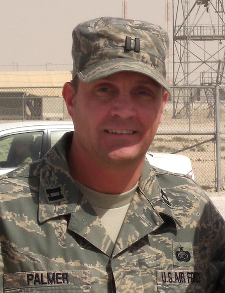 Capt. Jody Palmer, chief of the organization section at Air Education and Training Command, Randolph Air Force Base, Texas, recently returned from Southwest Asia where he served as chief of manpower and organization at the 379th Air Expeditionary Wing. (Courtesy photo)