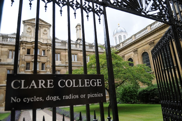 RAF MILDENHALL, England -- Clare College is among Cambridge's oldest, and it was founded in 1326. It is one of 30 colleges on the distinguished University of Cambridge. Visitors can tour many historic sites, some dating back to the 13th Century. (U.S. Air Force photo by 2nd Lt. Kathy Ferrero)