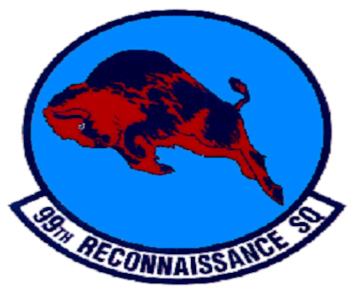 99th Reconnaissance Squadron patch. In accordance with Chapter 3 of AFI 84-105, commercial reproduction of this emblem is NOT permitted without the permission of the proponent organizational/unit commander.