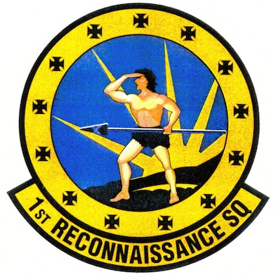 The 1st Reconnaissance Squadron patch. In accordance with Chapter 3 of AFI 84-105, commercial reproduction of this emblem is NOT permitted without the permission of the proponent organizational/unit commander.