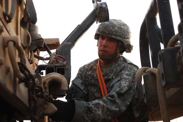 oakley government and military nwcn  CAMP TAJI  Sgt Brent Bergener, an Oakley, Idaho native, inspects the