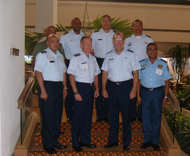 United States Air Force Lt. Gen. Norman Seip, the 12th Air Force (Air Forces Southern) commander, and Maj. Gen. Henry Morrow, the 1st Air Force (Air Forces North) commander, hosted a Central American Air Chiefs Conference in Miami, Florida July 25 for six air chiefs from Belize, El Salvador, Guatemala, Honduras, Nicaragua and Panama.