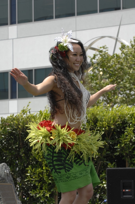 This year's Asian and Pacific Islander celebration featured a luau and entertainment featuring native dances, music and martial arts demonstrations.  The event was held in the Schriever Space Complex Courtyard, May 22. (Photos by Joe Juarez)