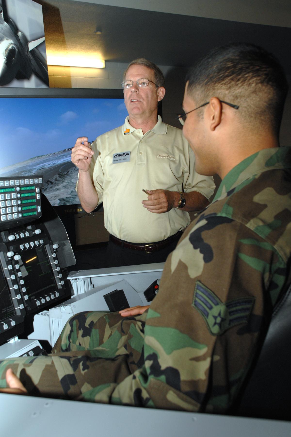 F-22 flight simulator