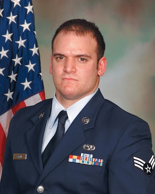 Senior Airman Kyle J. Greene was recognized as the 175th Wing's Airman of the Year for 2007 at a ceremony held at Warfield Air National Guard Base, Md., Feb. 10, 2008.