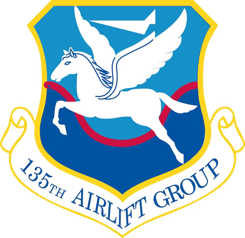 Symbolism:   Ultramarine blue and golden yellow are the Air Force colors and