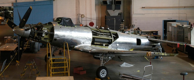 DAYTON, Ohio (06/2008) -- Fisher P-75A in the restoration hangar at the National Museum of the United States Air Force. (U.S. Air Force photo)