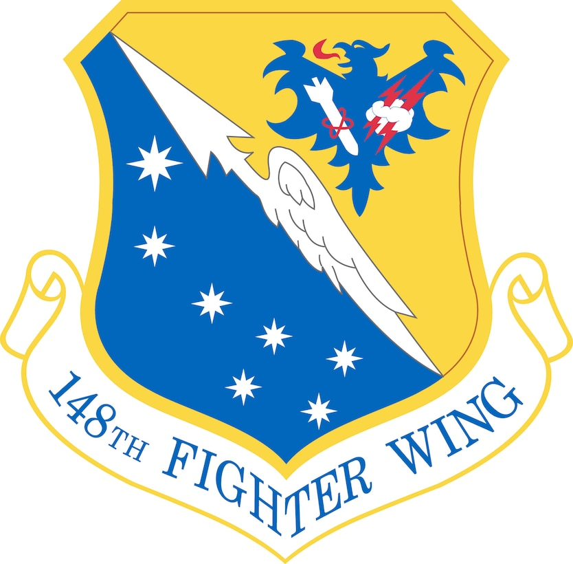 148th Fighter Wing official emblem.  Department of Defense and Military Seals are protected by law from unauthorized use. These seals may NOT be used for non-official purposes. For additional information contact the 148FW Public Affairs.