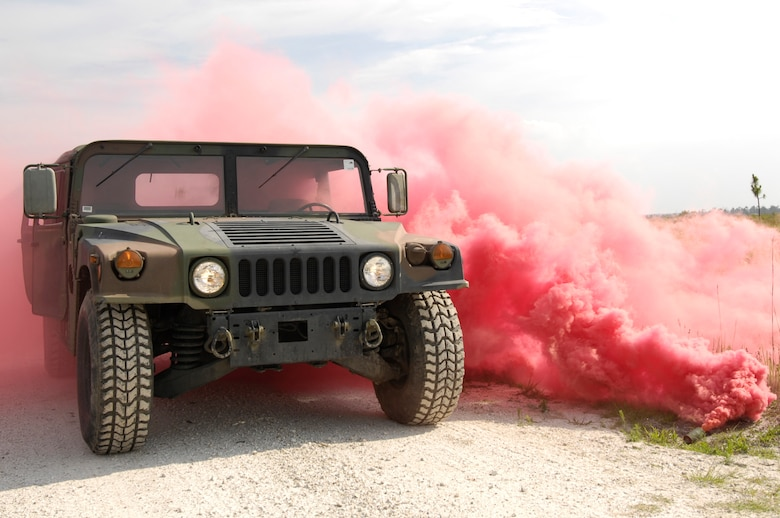 Red means dead. As red smoke explodes onto a vehicle during the Atlantic Strike VII training exercise June 16,2008, it symbolizes that the entire group of personnel in the vehicle are dead. Atlantic Strike is a joint forces training event involving Joint Terminal Attack Controllers from the U.S. Army, Air Force and Marines  and is held semi-annually at Avon Park Air Ground training Complex, Avon Park, FL.