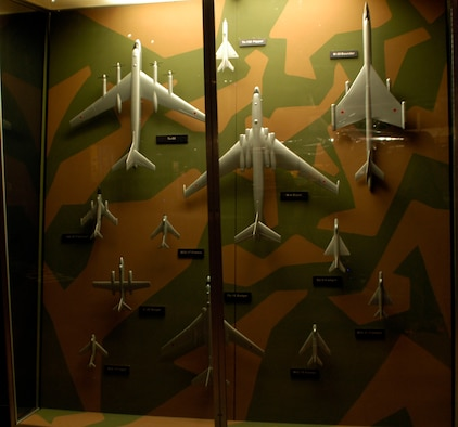 DAYTON, Ohio - A display of model Russian aircraft in the Cold War Gallery at the National Museum of the U.S. Air Force. (U.S. Air Force photo)