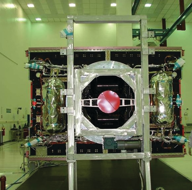 Advanced EHF Flight 3 Core Propulsion Module located at Lockheed Martin Space Systems facilities, Stennis Space Center, Miss. (courtesy photo by Lockheed Martin)