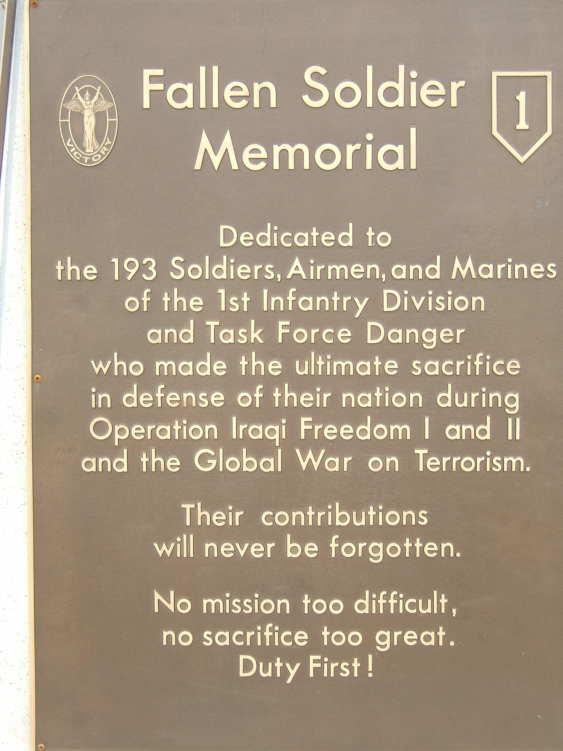 A plaque on a memorial ba92d9be1