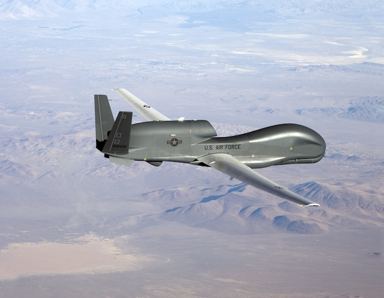 The Block 20 Global Hawk scheduled to arrive at Beale Air Force Base on June 30 will be the first model of its kind at the base. The new Block 20 will join seven Block 10 Global Hawks already assigned to Beale. (Courtesy photo)