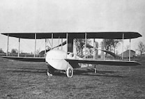"Wright Model ""HS"" quarter view on ground, Simms Station near Dayton, Ohio, 1914 (10487 A.S.)"