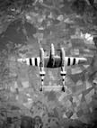 P-38 participating in the invasion of Francee as indicated by the invasion stripes.