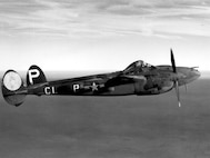 A P-38G in flight.