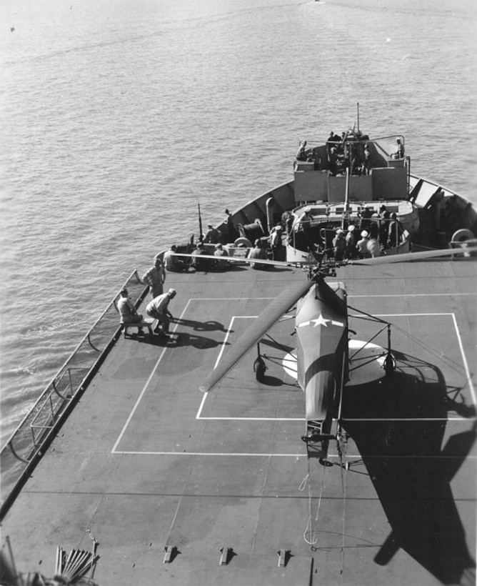 For many, this was probably a first experience as they watched the helicopter land on the ship.
