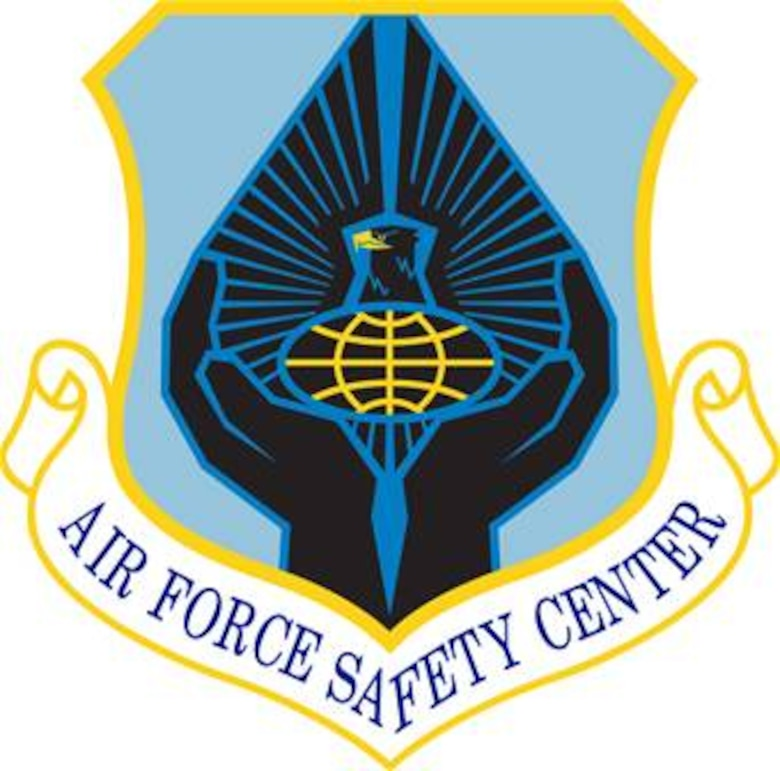 Air Force Safety Center (AFSC), shield (color), U.S. Air Force graphic.  In accordance with Chapter 3 of AFI 84-105, commercial reproduction of this emblem is NOT permitted without the permission of the proponent organizational/unit commander.