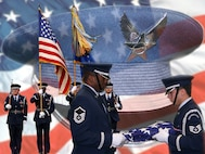 445th Airlift Wing Honor Guard (U.S. Air Force Graphic Design/Senior Airman Ken LaRock)