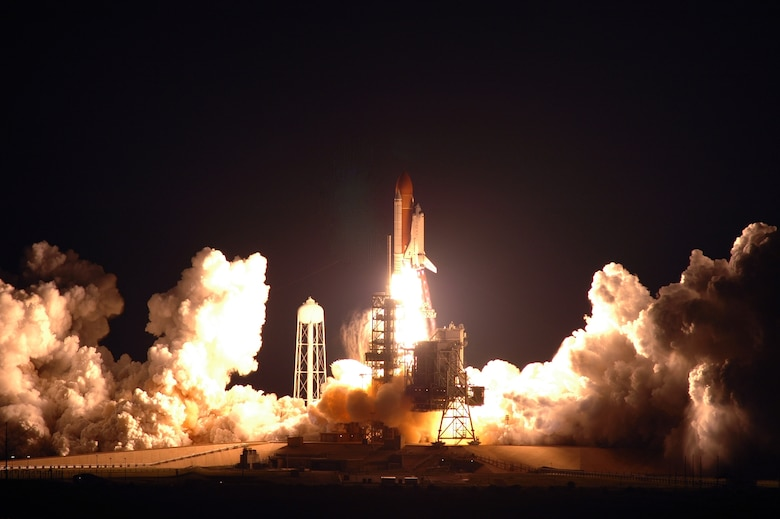 With support from the U.S. Air Force's 45th Space Wing, Space Shuttle Endeavour blasted off safely from Kennedy Space Center today at 2:28 a.m. (EDT), March 11, 2007, starting NASA's 25th mission to the International Space Station.