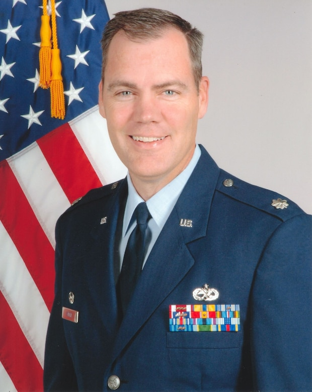 Lt. Col. Darrell Steele, 552nd Aircraft Maintenance Squadron, commander