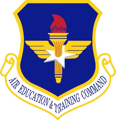 Air Education & Training Command (AETC) Shield (Color), U.S. Air Force graphic.  In accordance with Chapter 3 of AFI 84-105, commercial reproduction of this emblem is NOT permitted without the permission of the proponent organizational/unit commander.
