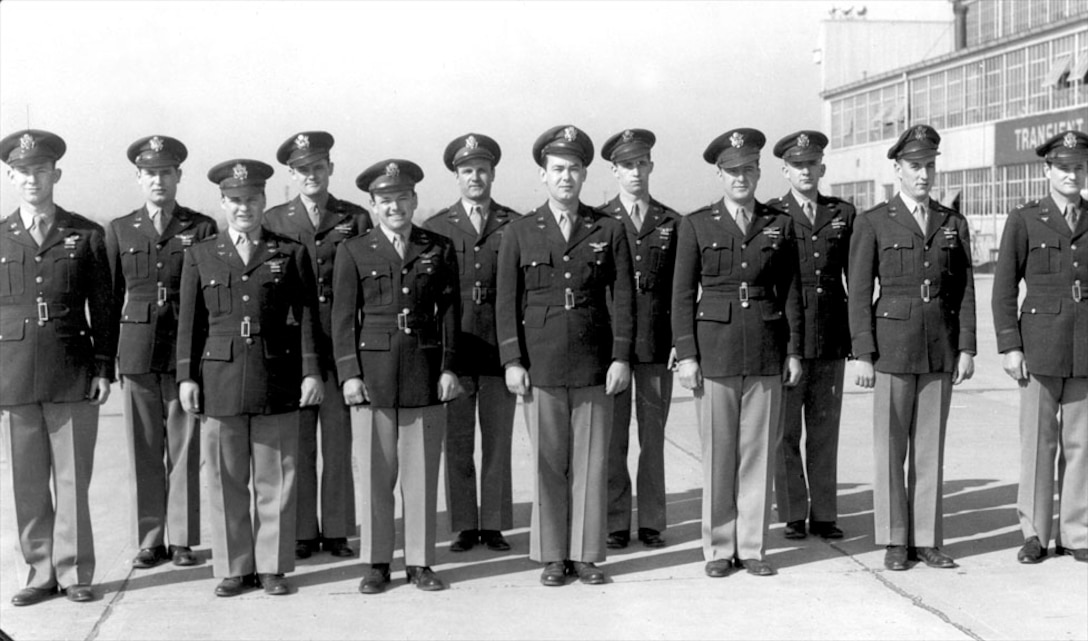 3rd ARON Officers display Air Medals.