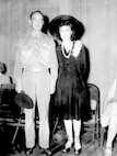 Major Bent and Miss Fay Wray at U.S. Bond selling rally, Sept 1942.