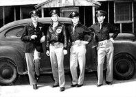 Colonel Fowler, 13 B. G. Commanding Officer; Major Bent, Squadron Commanding Officer; Captain Anderson, Medical Officer; and Capt. Bond, Squadron Adjutant.