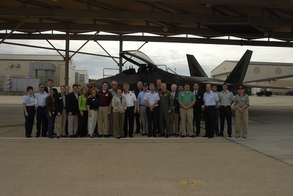 Florida state legislators and community leaders toured Tyndall Air Force Base. Tour included the F-22 Raptor and the 601st Air and Space Operations Center.