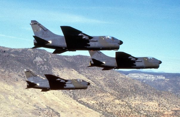 Arizona Air National Guard A-7s.